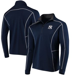 Columbia NY Yankees Navy Shotgun Quarter-Zip Pullover