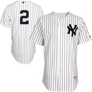 Derek Jeter Majestic Authentic Jersey – White