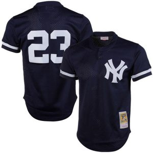 Don Mattingly 1995 Authentic Cooperstown Collection Mesh BP Jersey – by Mitchell & Ness