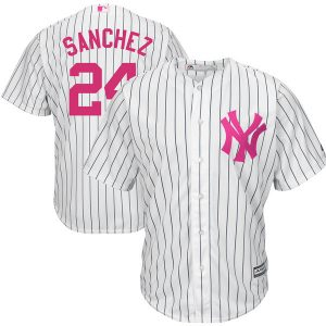 Gary Sanchez NY Yankees Majestic Mother's Day Replica Jersey