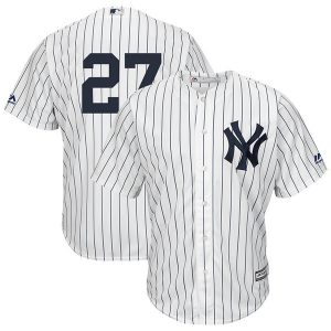 Giancarlo Stanton Majestic Cool Base Replica Jersey – White