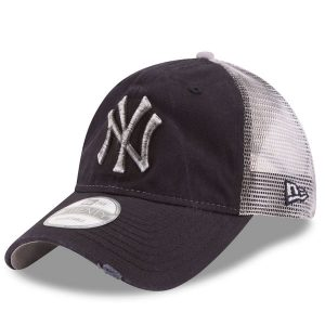 NY Yankees New Era Navy Team Rustic 9TWENTY Adjustable Hat