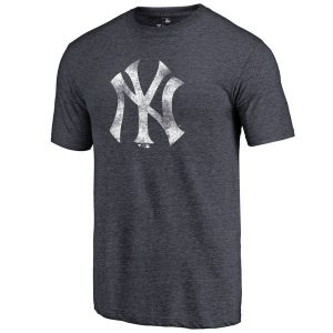 New York Yankees Distressed Team Tri-Blend T-Shirt – Heathered Navy