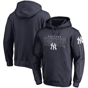 NY Yankees Front Line Pullover Hoodie