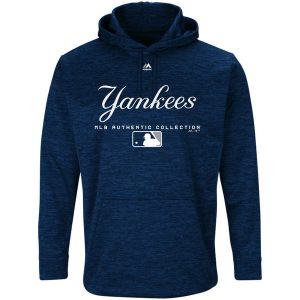 NY Yankees Majestic Authentic Collection Team Drive Ultra-Streak Fleece Pullover Hoodie