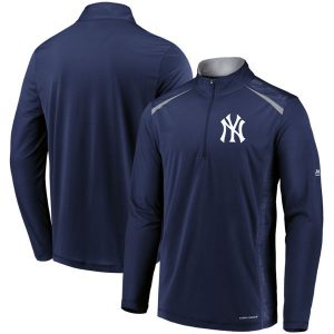 NY Yankees Majestic Perfect Movements Cool Base 1/4 Zip Pullover Jacket