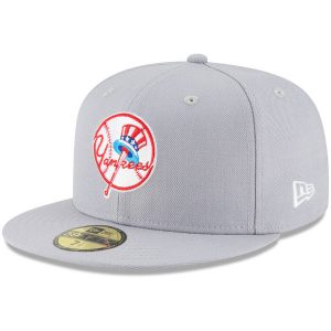 NY Yankees New Era Cooperstown Collection Wool 59FIFTY Fitted Hat – Gray