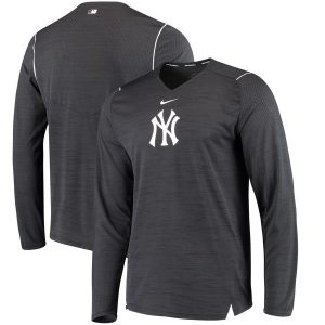 New York Yankees Nike AC Breathe Long Sleeve Performance T-Shirt – Navy