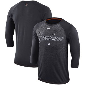 NY Yankees Nike Authentic Collection Legend 3/4-Sleeve Raglan Performance T-Shirt