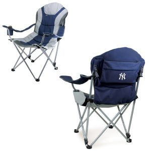 New York Yankees Reclining Camp Chair – Navy