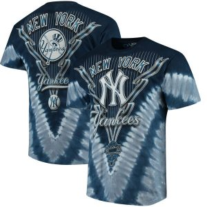 New York Yankees Tie-Dye T-Shirt – Navy Blue