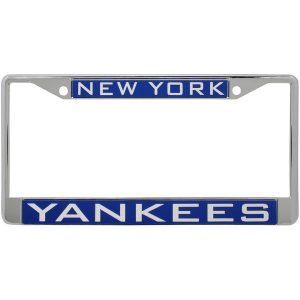 New York Yankees Laser Inlaid Metal License Plate Frame