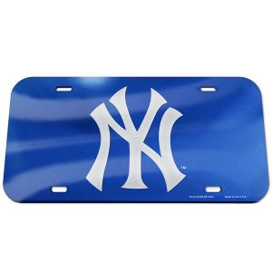 New York Yankees Logo Crystal Mirror License Plate