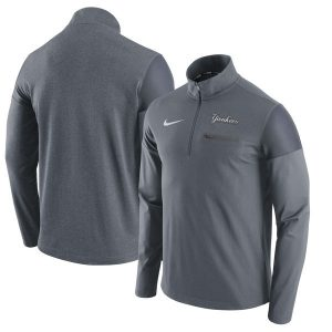 Nike New York Yankees Gray Elite Half-Zip Pullover