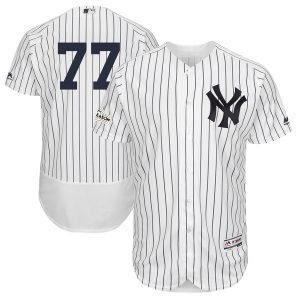 Majestic Clint Frazier New York Yankees White 2017 Postseason Flex Base Player Jersey