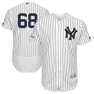 Majestic Dellin Betances New York Yankees White 2017 Postseason Flex Base Player Jersey