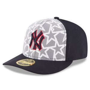 New Era New York Yankees White/Navy Stars & Stripes Low Profile 59FIFTY Fitted Hat