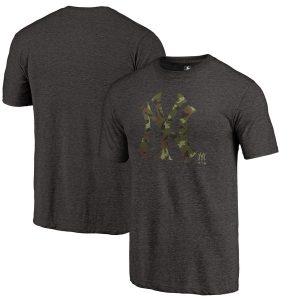 New York Yankees Black 2018 Memorial Day Camo Prestige Tri-Blend T-Shirt