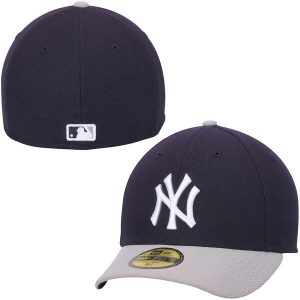 NY Yankees Navy Blue/Gray Road Low Crown Diamond Era Performance 59FIFTY Fitted Hat