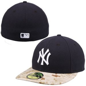 NY Yankees Navy/Camo Memorial Day Stars & Stripes On-Field 59FIFTY Fitted Hat