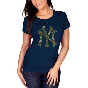 New York Yankees Women's Navy Memorial Day T-Shirt