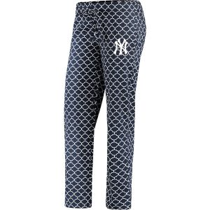 New York Yankees Women's Navy/White Slumber Sleep Pants