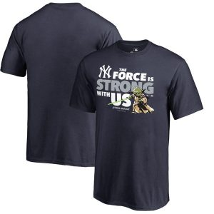 New York Yankees Youth Navy Star Wars Jedi Strong T-Shirt