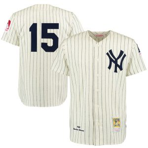 Thurman Munson New York Yankees Cream/Navy Throwback 1969 Authentic Jersey