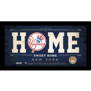 Yankees Home Sweet Home Sign w/Game-Used Dirt